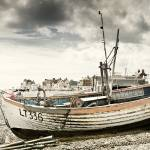 """Fishing Boat on Aldeburgh Beach"" by oleymoley"