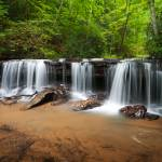 """Perpetuelles - Small Waterfall Landscape"" by DAPhoto"