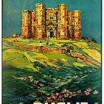 """Castel del Monte ~ Vintage 1925 Italy Travel Poste"" by Johnny-Bismark"