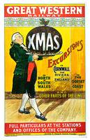 Great Western Railway ~ Vintage 1903 Christmas Exc