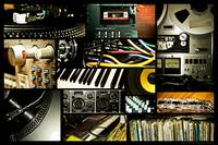 RECORDING STUDIO COLLAGE