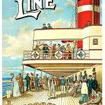 """Dominion Line Liverpool to Canada Vintage 1904 Ste"" by Johnny-Bismark"