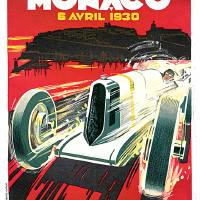 Monaco Grand Prix Vintage 1930 Auto Race Poster Art Prints & Posters by Johnny Bismark