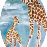 """Giraffes"" by debbiepaints"