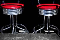 Two Red Barstools