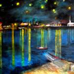 """""""Starry Night Over The Rhone River"""" by RickTodaro"""