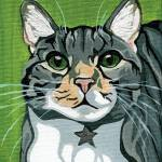 """Juhl the Tabby Cat Portrait"" by VeganMe"