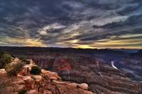 HDR Sunset at the Grand Canyon