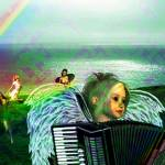 """Irish Accordion Angel"" by kristie-elizabeth"