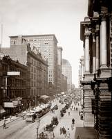 Randolph St., East from LaSalle St., Chicago c1900
