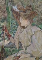 Woman with Gloves by Henri de Toulouse-Lautrec