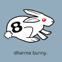 dharma bunny. Art Prints & Posters by JoeDeStefano