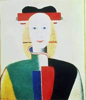 The Girl with the Hat by Kazimir Malevich