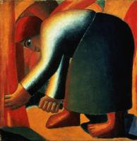 Woman Cutting by Kazimir Malevich
