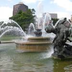 """J.C. Nichols Fountain"" by newmom02"