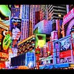 """Commercial Cartoon  .. Slice of Times Square"" by NJScott"