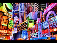 Commercial Cartoon  .. Slice of Times Square