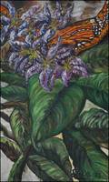 Monarch in Lilies