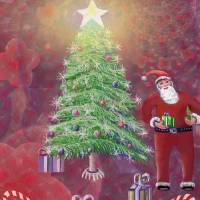Design for a Christmas Card Art Prints & Posters by Stephen Lo Piano