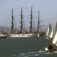 Tall Ships in San Francisco Art Prints & Posters by Derk Kuyper