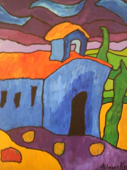 """Blue Church Art Blue Church """""""