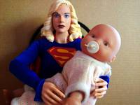super girl, new mom