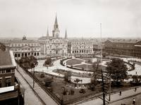 Jackson Square overview, New Orleans c1906 by WorldWide Archive