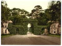 Irvine, Eglington Castle, entrance gates, Scotland