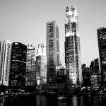 """City Urban BW - City Centre Evening , Singapore"" by sghomedeco"