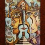 """Harmonic Portal w/border"" by marydelave"