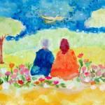 """""""Paramhansa Yogananda & Swami Kriyananda"""" by ArtSamadhi"""