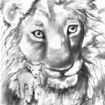 """""""Lion and the Lamb"""" by heartart"""