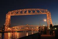 Duluth Aerial Lift Bridge At Night