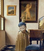 Lady standing at the Virginal by Jan Vermeer