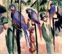 Blue Parrots by August Macke