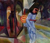 Pierrot by August Macke