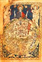 Christ and Map of the World (c. 1275)