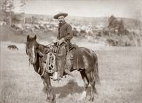 Cowboy on horse c1900 by WorldWide Archive