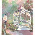 """Gazebo Flowers"" by DoyleArts"