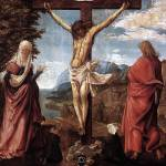 """Christ On The Cross with Mary and St John"" by ArtLoversOnline"