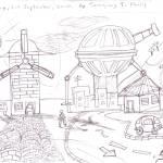 """Windmill town."" by tamajongphilip"