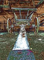 Hay Wagon in a Barn (1)
