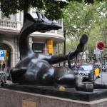 """The Giraffe Position, Avinguda Diagonal, Barcelona"" by MagieL"
