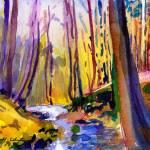 """""""Delaware Water Gap Fall Woods"""" by McGuffSilverman"""