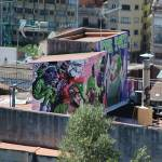"""Grafitti on the Rooftops, Barcelona"" by MagieL"