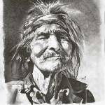 """Old Indian"" by LifelinesArt"