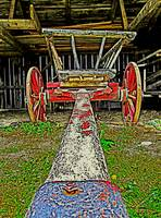 Hay Wagon in a Barn (3)
