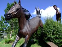 Horse statues