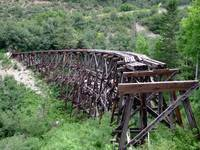 Railroad trestle bridge