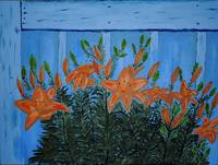 Lillies painting